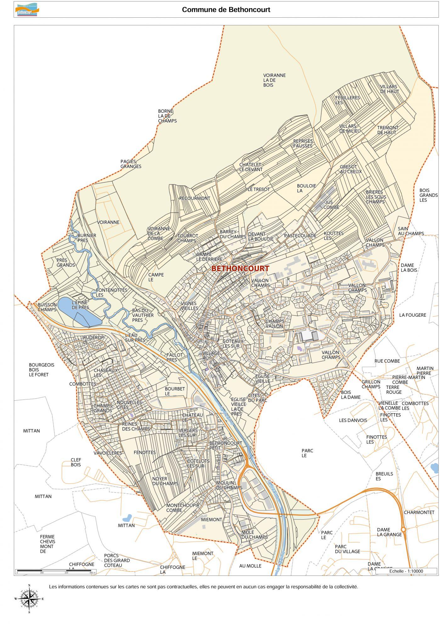 Carte commune Bethoncourt