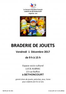 Braderie de jouets par le secours populaire Français