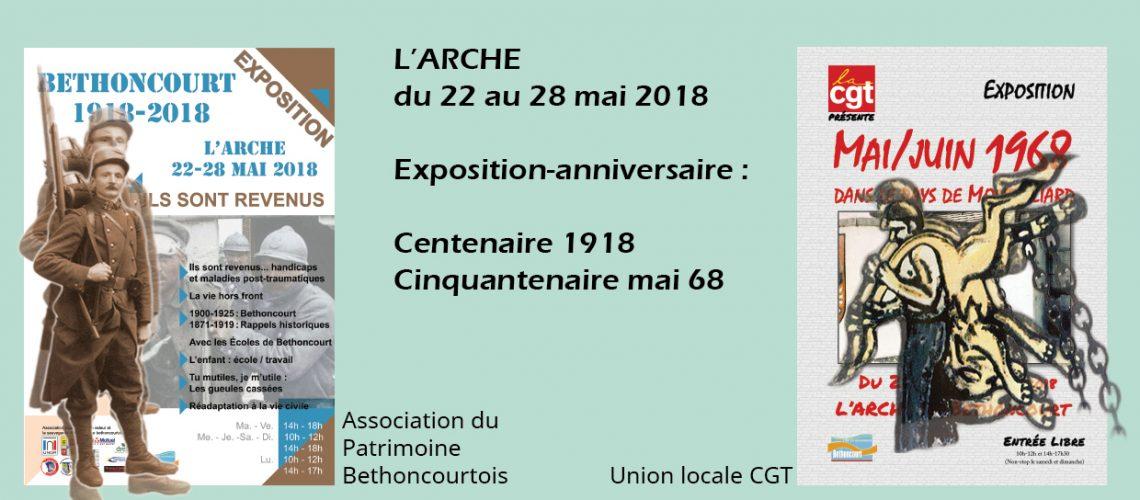 Exposition Centenaire 1918 / cinquantenaire Mai 68