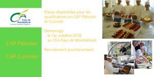 Le CFA du Pays de Montbéliard recrute en CAP