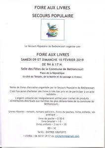 Foire aux livre avec le secours populaire Français comité de Bethoncourt