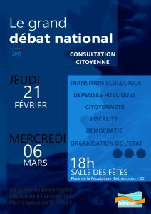 Grand débat - Consultation citoyenne