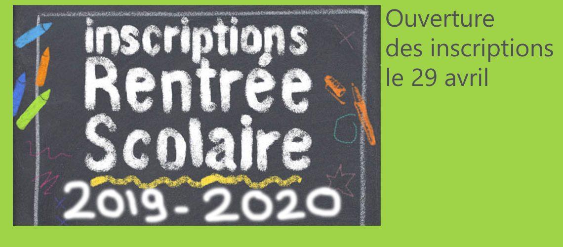 Rentrée scolaire 2019-2020