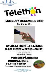 Téléthon au Centre social La Lizaine