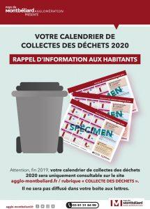 Collecte des déchets – calendrier