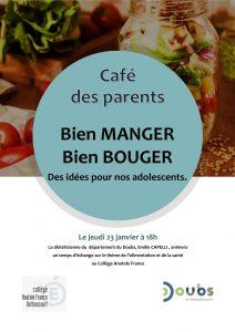 Café des Parents : Bien manger, bien manger