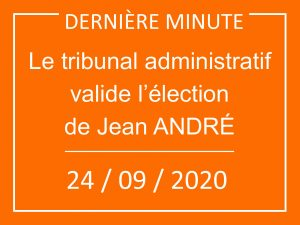 L'élection de Jean André validée par le TA