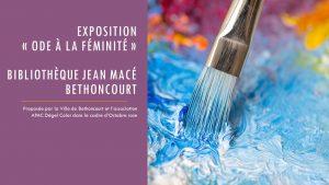 Exposition : ôde à la féminité - lecture à haute voix