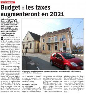 Erratum sur les taxes à Bethoncourt