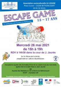 Escape Game (13-17 ans)